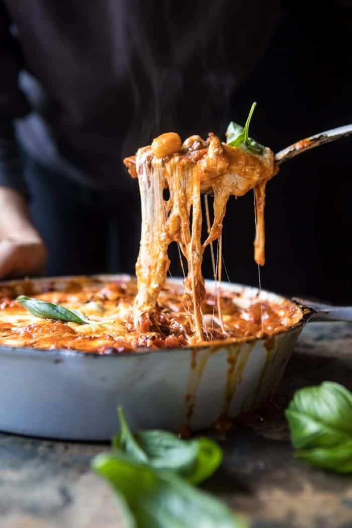 Sunday Night Gnocchi Bolognese Bake | halfbakedharvest.com @hbharvest