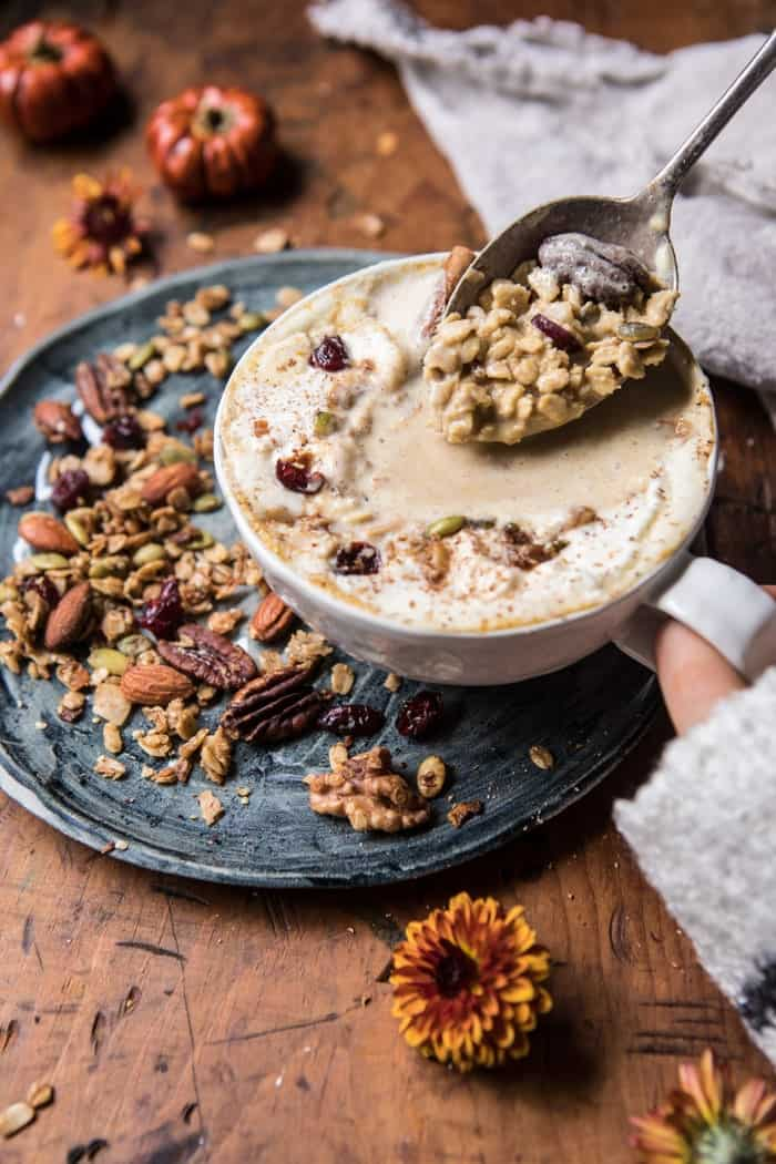 Pumpkin Spice Oatmeal Latte | halfbakedharvest.com @hbharvest