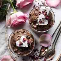 6 Ingredient Vegan Chocolate Chia Mousse.