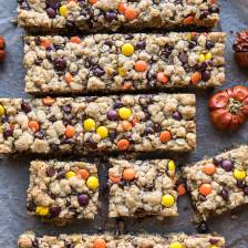 Monster Oatmeal Chocolate Chip Cookie Bars   halfbakedharvest.com #cookies #fall #autumn #halloween #thanksgiving #chocolate #easyrecipes