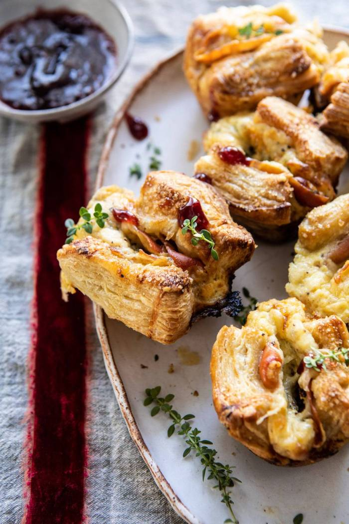 Easy Cheese and Prosciutto Croissants | halfbakedharvest.com #quick #simple #Christmas #holiday #brunch #breakfast #appetizer