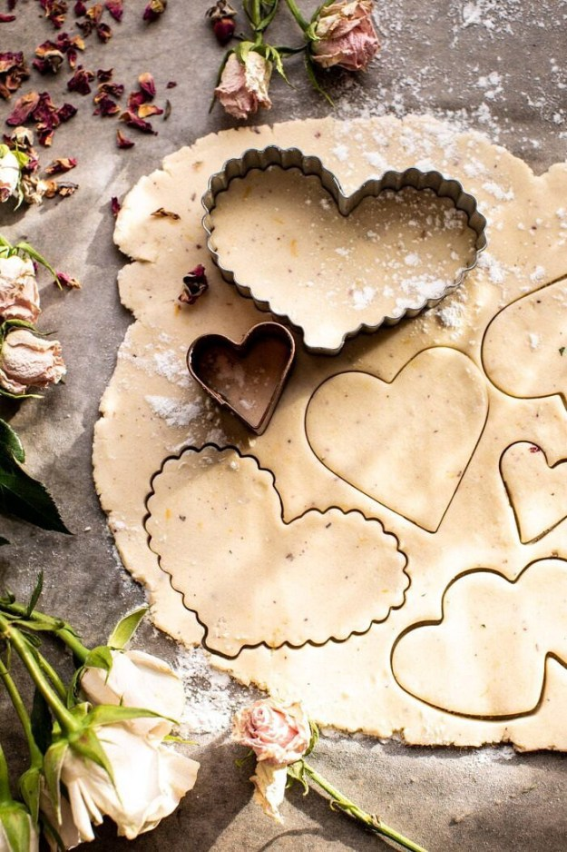 Lemon Rose Shortbread Cookie dough