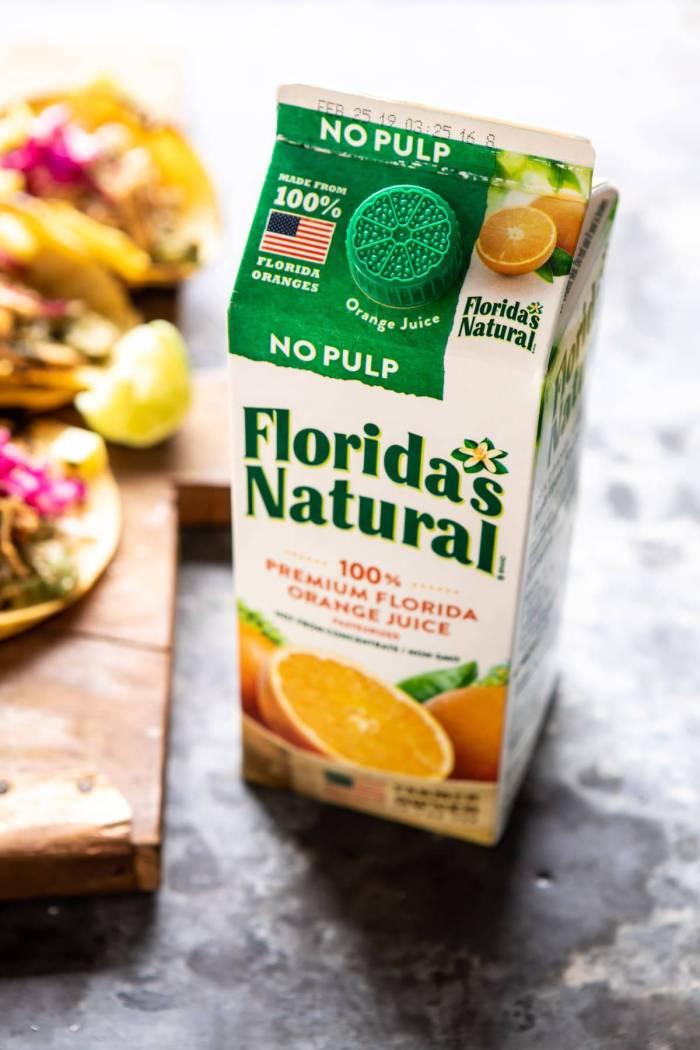 orange juice contianer