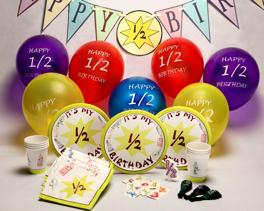 Half Birthday Party Supplies Order Here