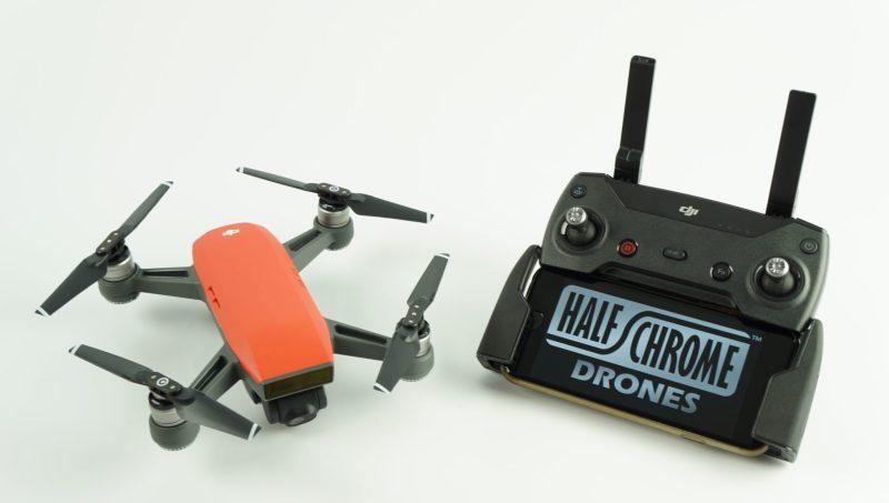 Hình ảnh trọn bộ tay cầm điều khiển và flycam DJI Mavic