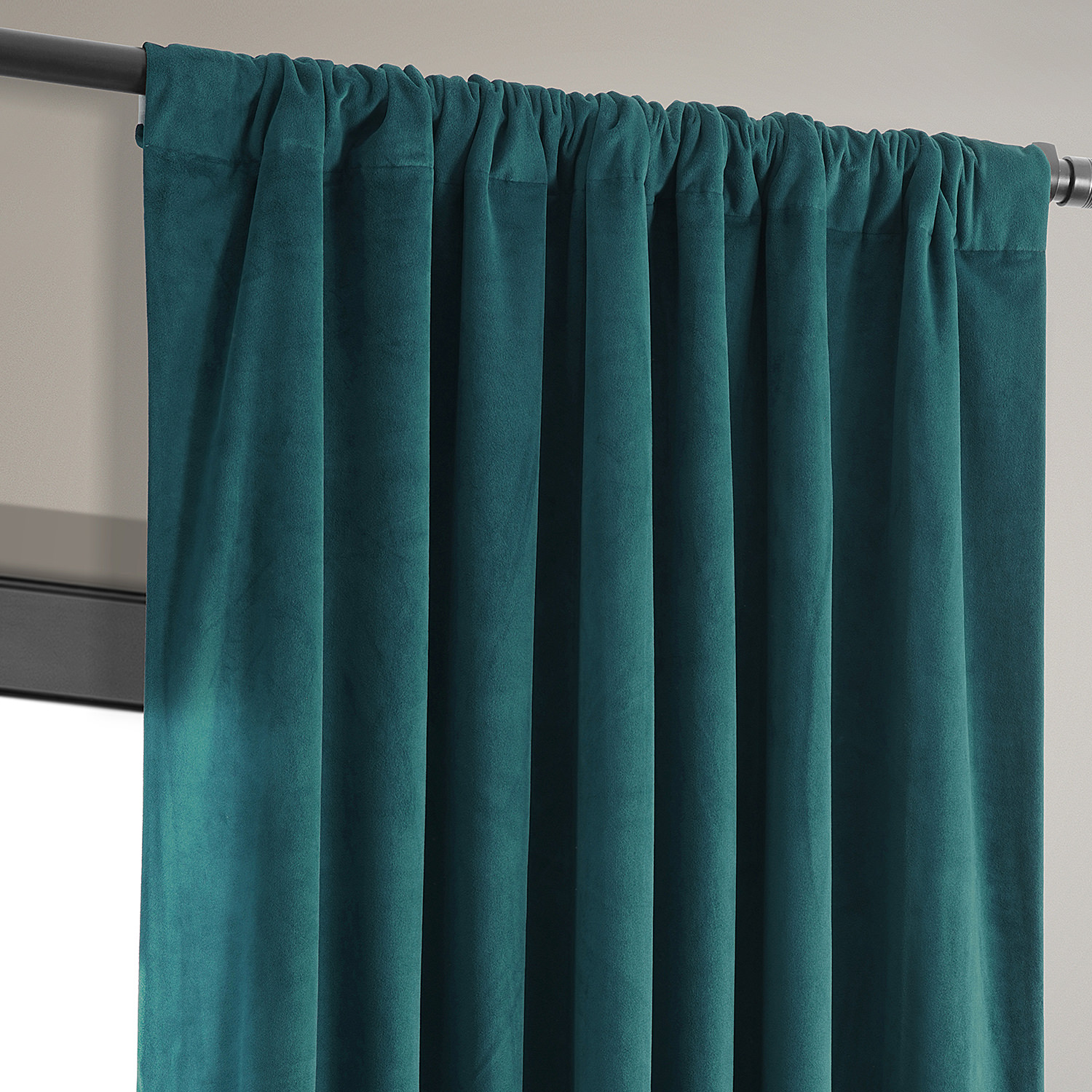 Buy Signature Everglade Teal Blackout Velvet Curtains