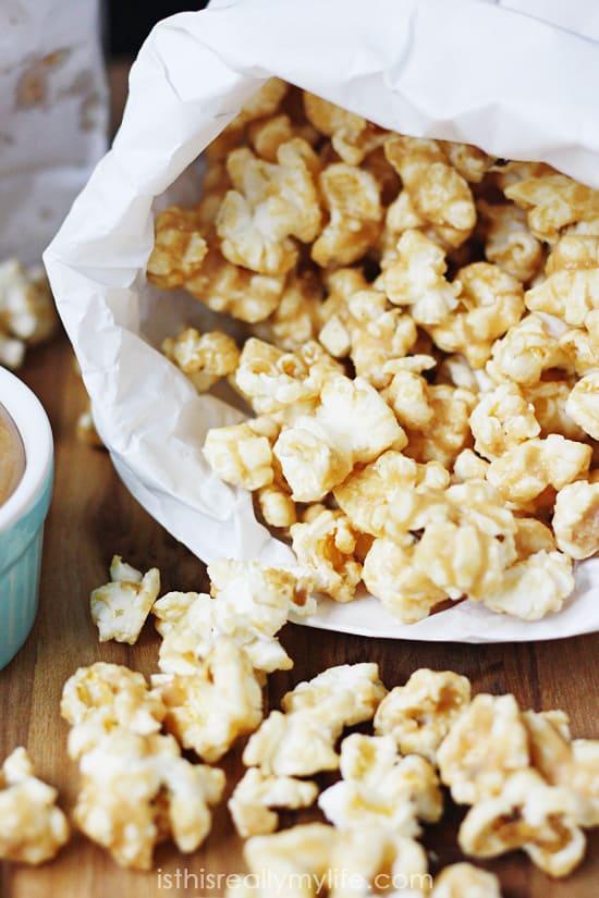 quick easy peanut butter popcorn