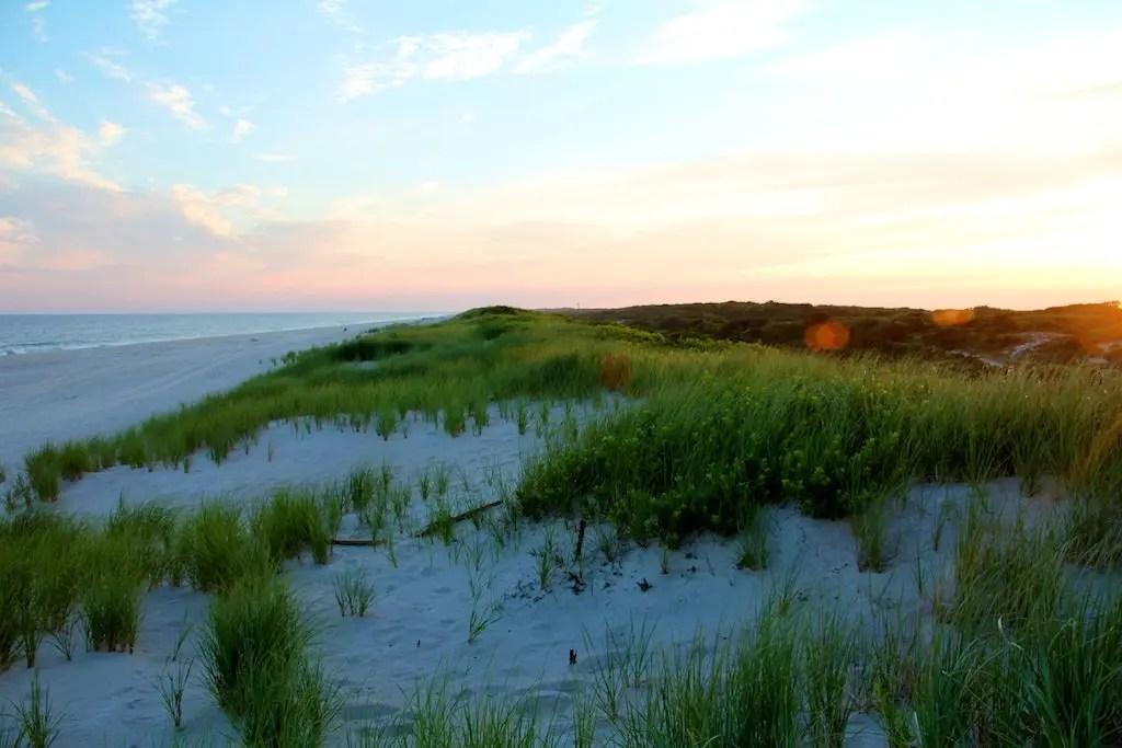 Fire Island Sand Dunes Sunset