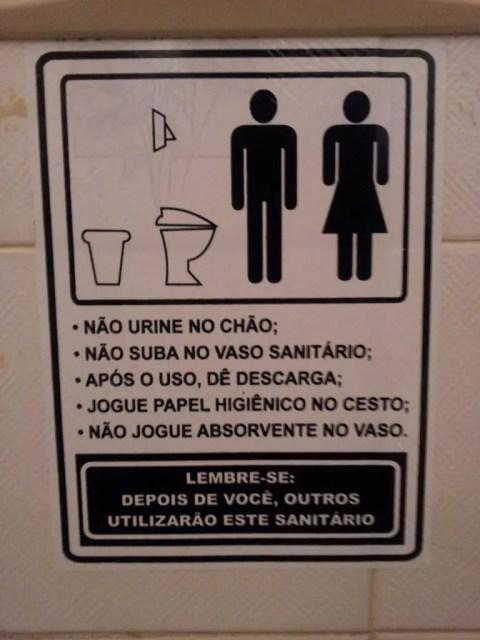 Bathroom Operating Instructions - Portuguese