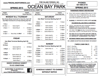 Fire Island Ferry Schedule