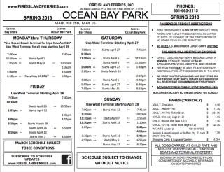 Fire Island Ferry Schedule