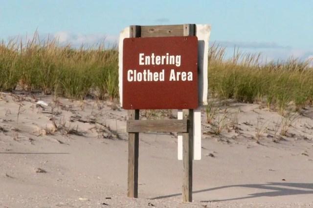 Fire Island Nude Beach Sign 002