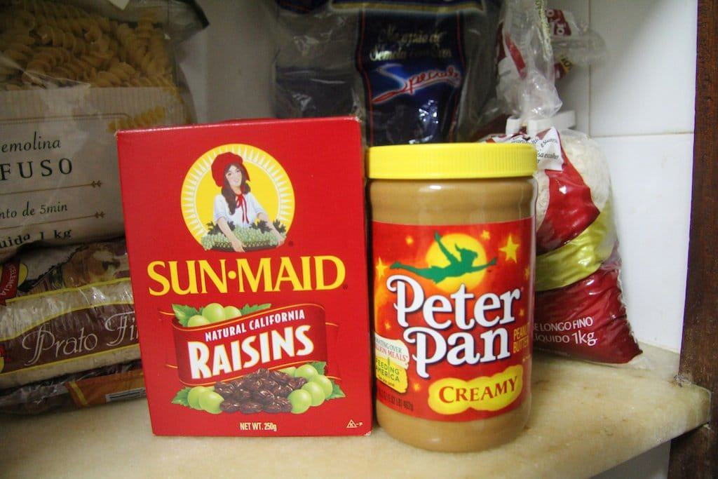 Peanut Butter and Raisins in Brazil