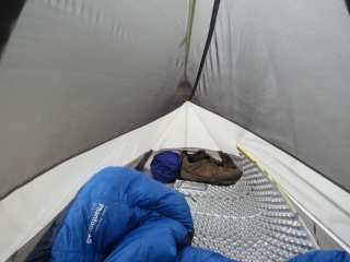 Tent Interior with Shoes
