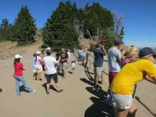 Crater Lake Tourists