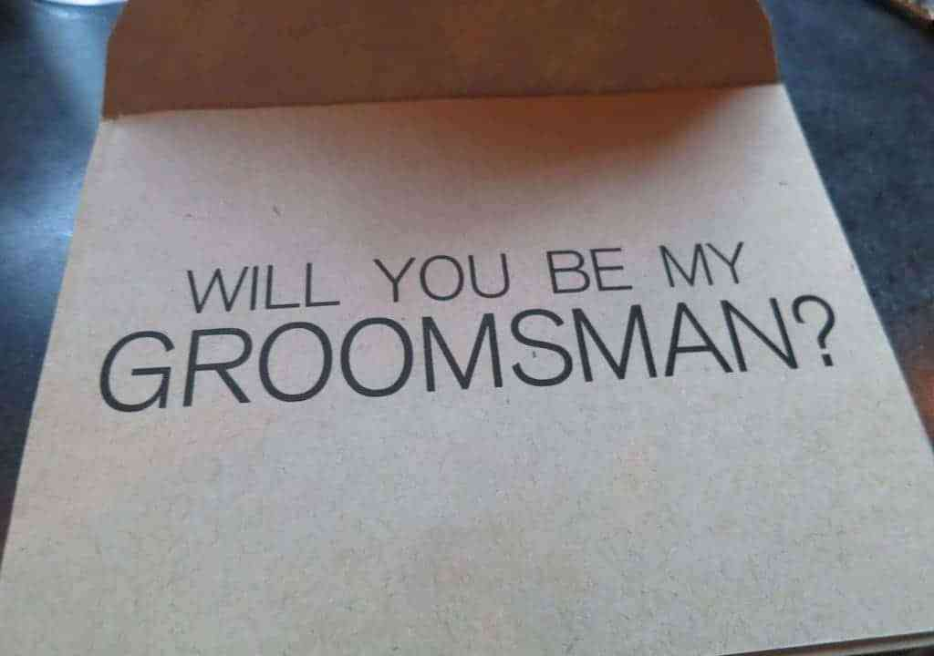 Groomsman Question