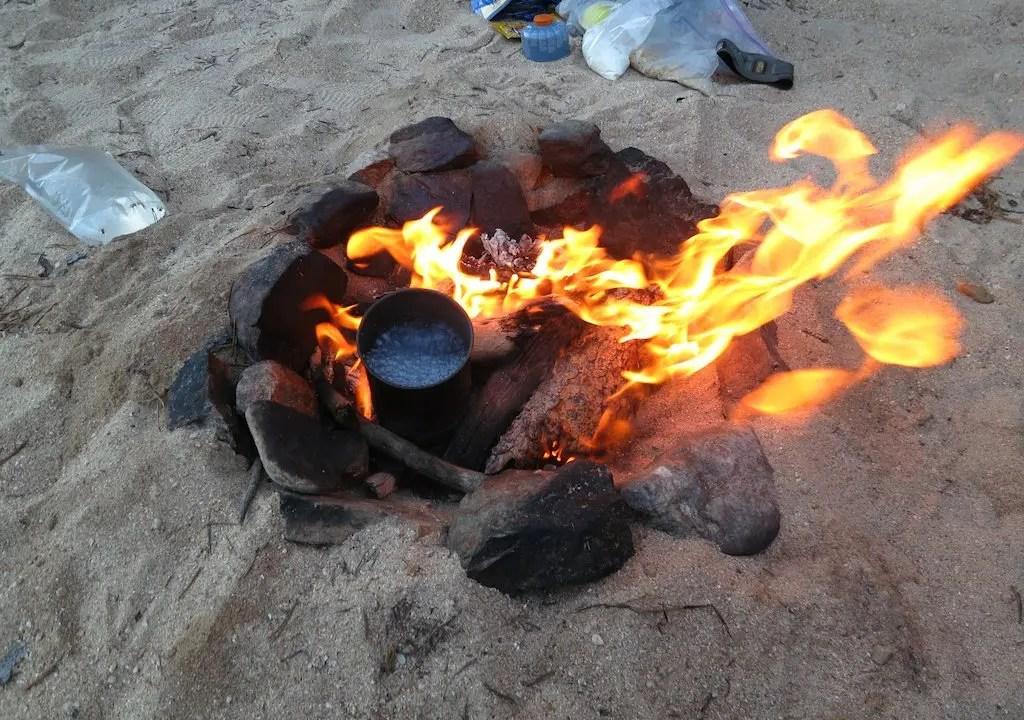PCT Beach Fire