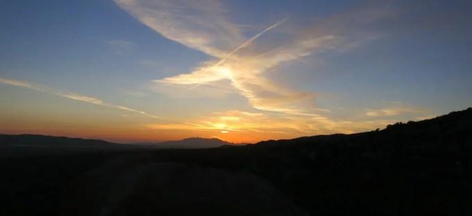 PCT Desert Sunset