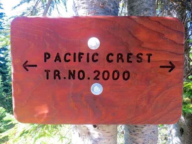 Pacific Crest Tr No 2000 Sign