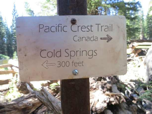 Pacific Crest Trail (Canada) Sign