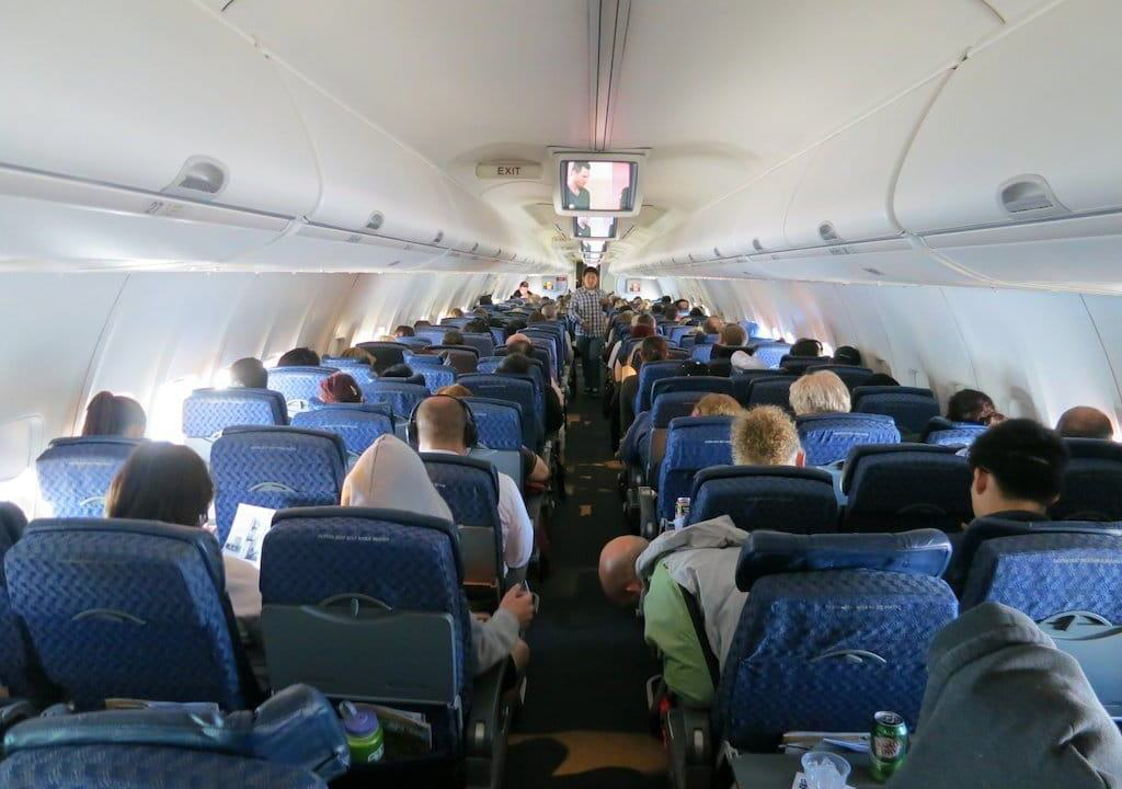 Airplane Inside With Passengers