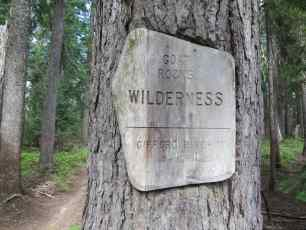Goat Rocks Wilderness Sign