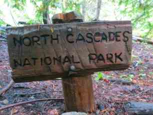 North Cascades National Park Sign