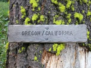 Oregon California Border Sign