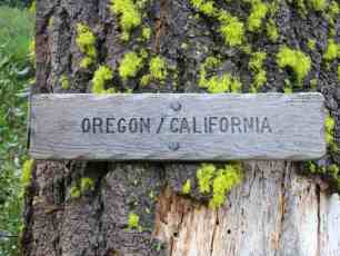 Oregon California Border Sign