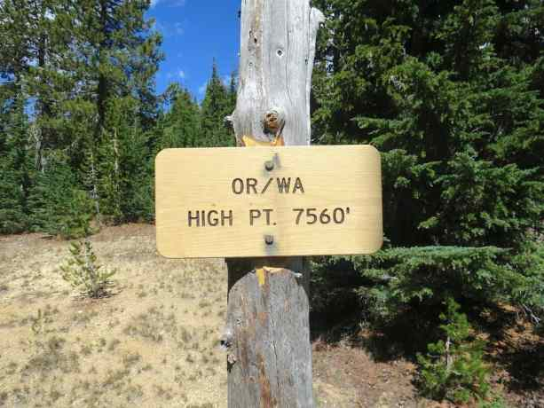 Oregon Washington High Point Sign