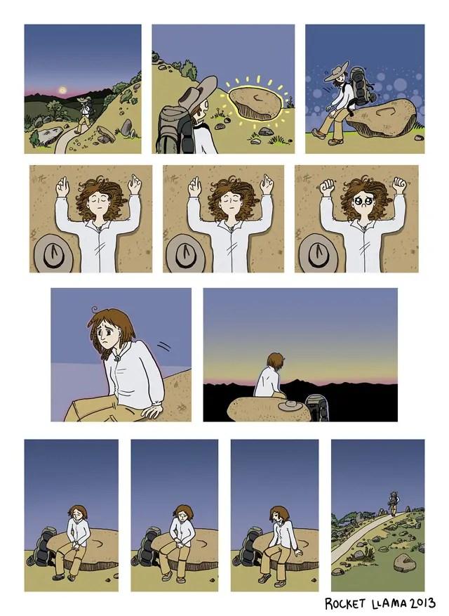 Rocket Llama Steps Comic