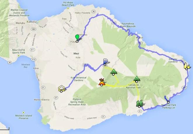 Haleakala Hike Map