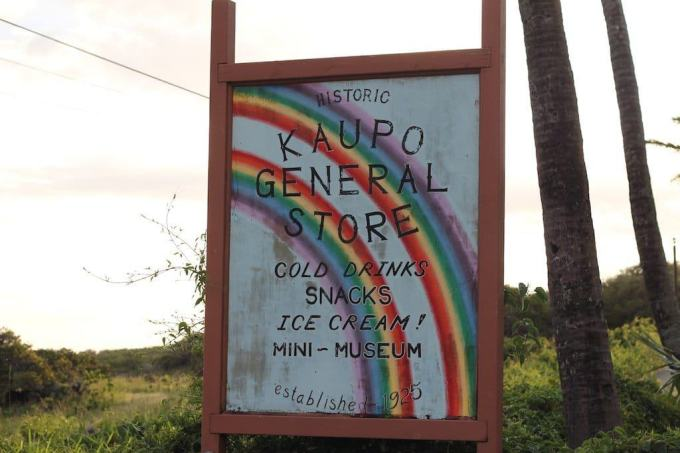 Kaupo General Store Sign