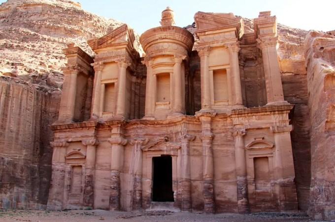 Petra Monastery Morning Right
