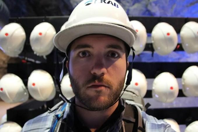 Sweden Kiruna Mine Selfie