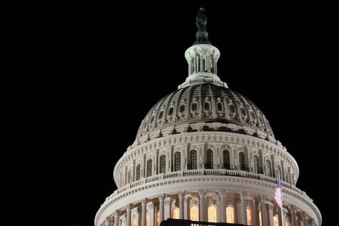 Washington DC Capitol Building Night