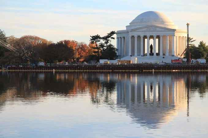 Washington DC Jefferson Memorial Reflection
