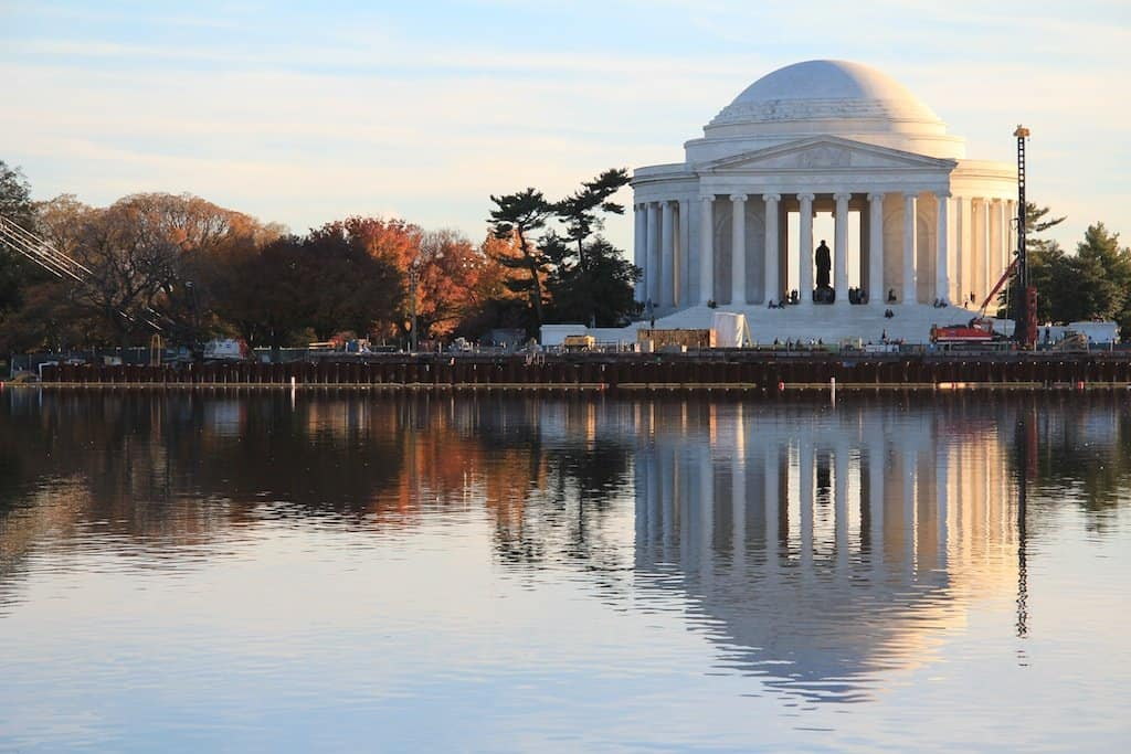 Washington DC Jefferson Memorial Reflection