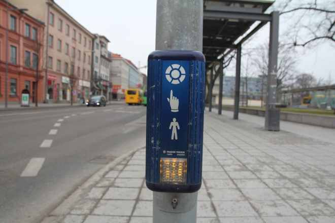 Sweden Crosswalk Button