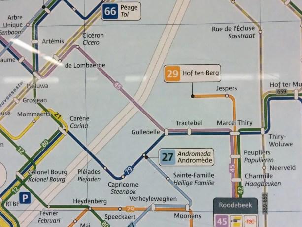 Belgium Brussels Transportation Map