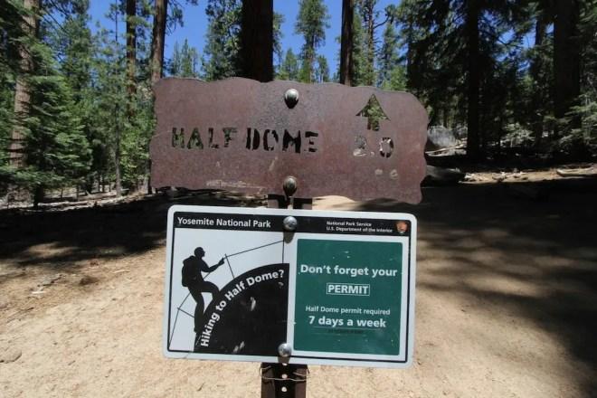 Yosemite Half Dome Sign 2