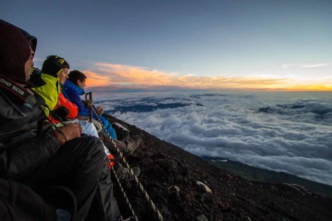 Mount Fuji Summit People