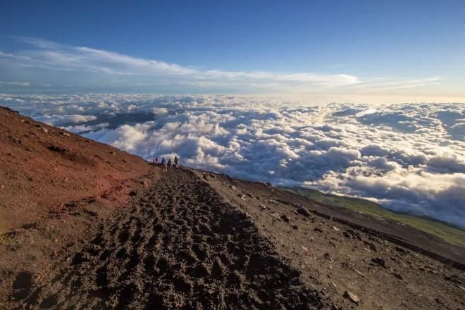 Mount Fuji Way Down