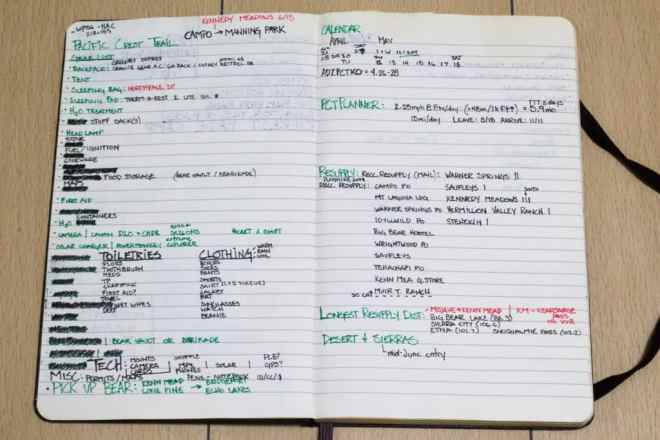 PCT Planning Notebook