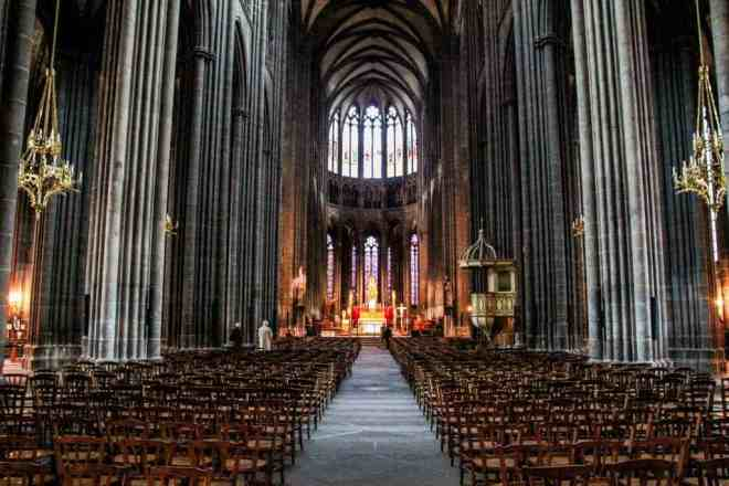 Clermont-Ferrand Cathedral Inside