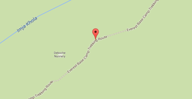 Everest Base Camp Google Map