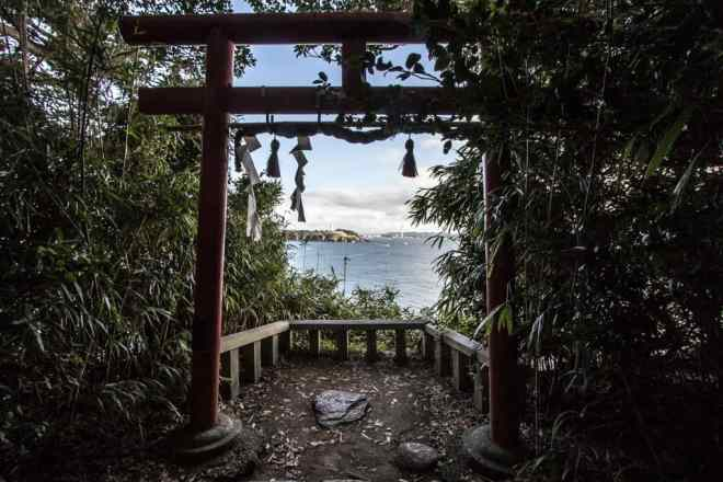 Finding perspective on Oshima Island in Fukui, Japan.