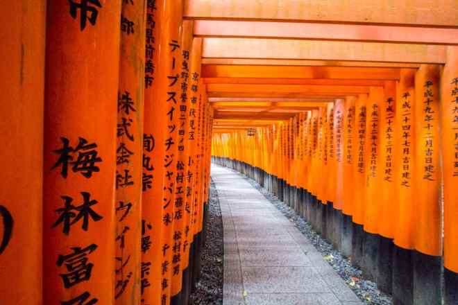 A staple of Kyoto's tourism industry - Fushimi Inari Taisha Shrine.