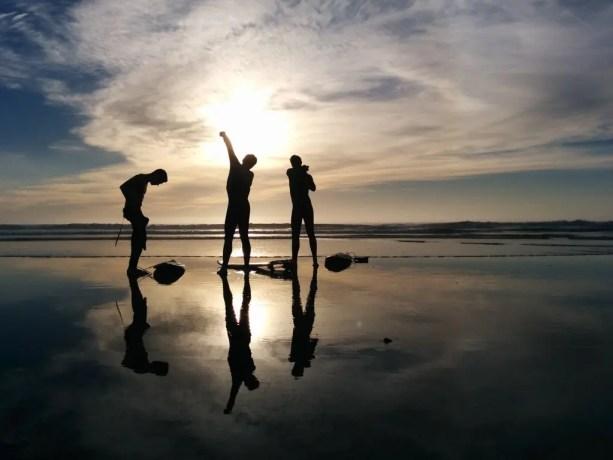 San Diego Del Mar Surfer Reflections