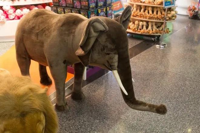 Doha Airport Stuffed Elephant